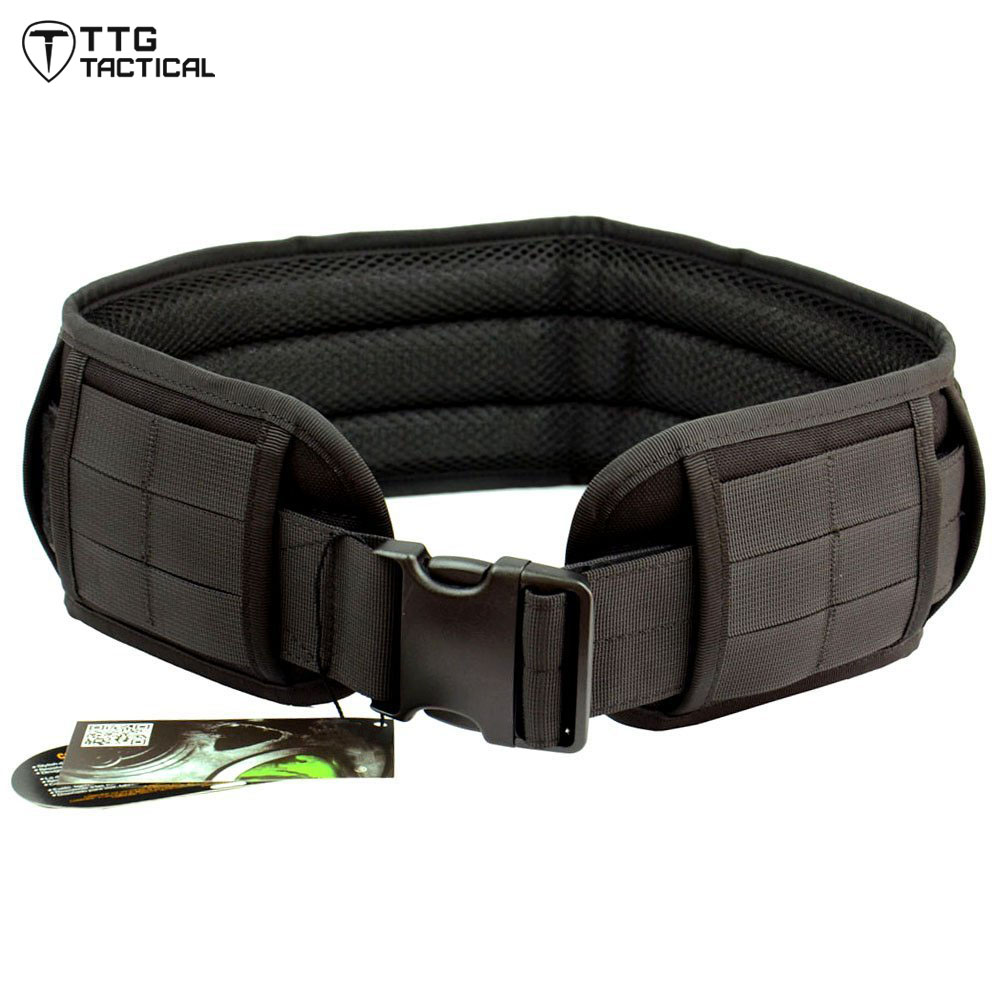 Padded Patrol Belt 1000D Nylon Dual-use Tactical Molle Belt Molle Load Bearing Utility Belt