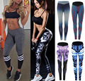 Plus Size Women's Fitness Leggings Workout Pants Panelled Ladies High Waist Leggins Quick-drying Wear Trousers