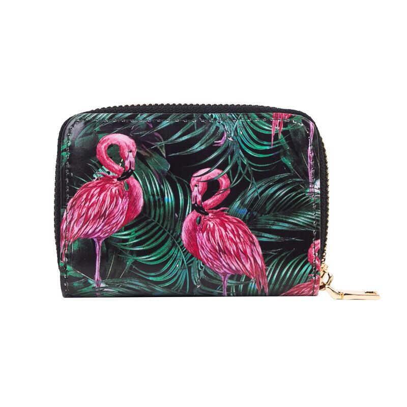 2115cc0725 Hot Sell Flamingo Unicorns Zebra Orangutan 18New Prints Short Wallets For  Girls Card Holder Lady Fruit