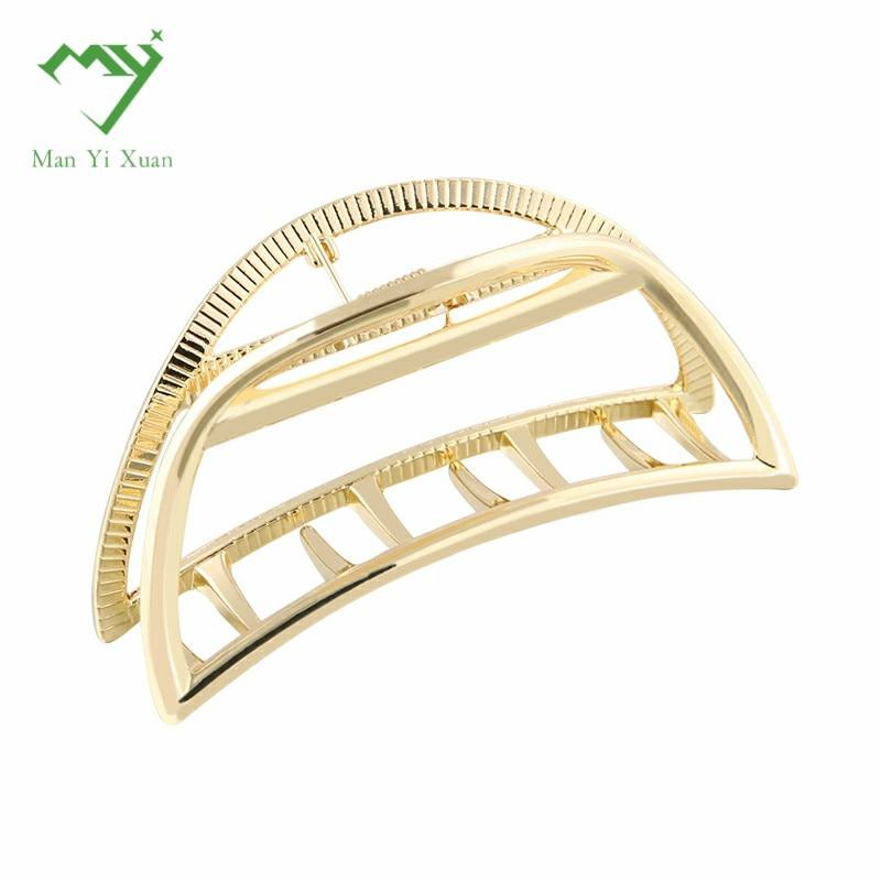 7.5cm length Classic style metal hair claws Make UP Hair Accessories Hair Crab High Quality cute hair clip for girls