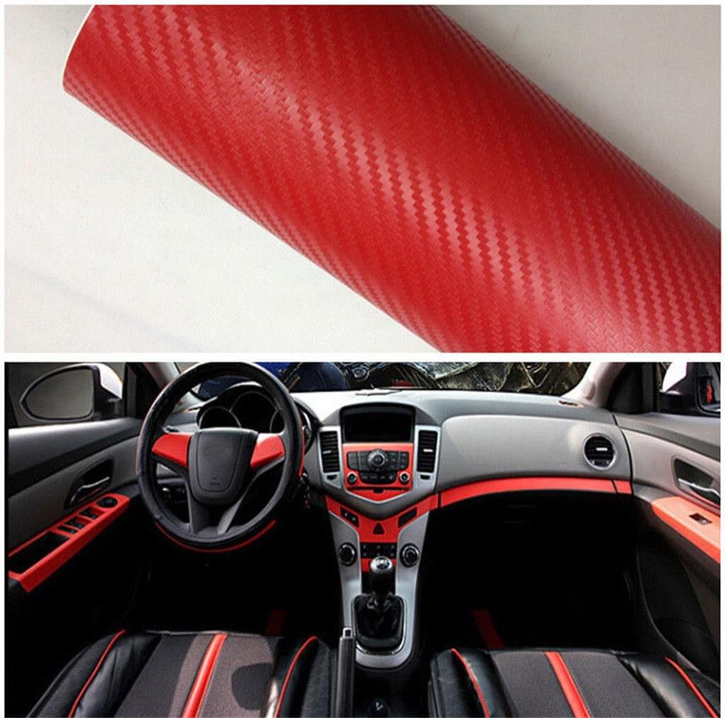 Red Fashion Carbon Fiber Vinyl Sticker