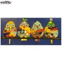 Diamond Embroidery Sale Colour Owl Family 5d Diamond Painting Animals Full Diamond Mosaic Pictures Of Rhinestone