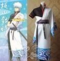 Anime Gintama Sakata Gintoki Cosplay Costume Japanese Kimono Uniform Outfit Adult Costumes Halloween/Carnival Party Costumes