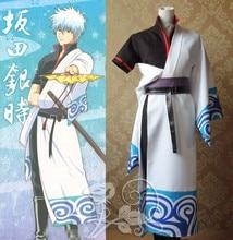 New Anime Gintama Sakata Gintoki Cosplay Costume Japanese Kimono Uniform Outfit Carnival/Halloween Costumes for Women S-3XL
