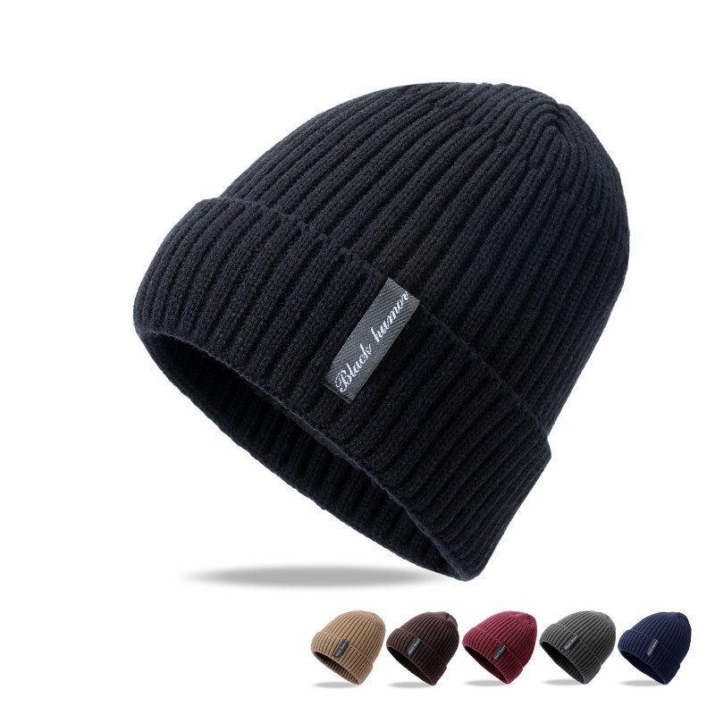 2018 Fashion Men   Skullies     Beanies   Knitted Hat Winter Hats For Women Plain Warm Male Gorros Bonnet Caps Thicken Solid   Beanies