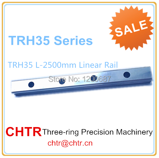 Manufactory Low price for 1pc TRH35 Length 2500mm Linear Slide Rail CNC Linear Guide Rail 34mm high precision low manufacturer price 1pc trh20 length 1800mm linear guide rail linear guideway for cnc machiner