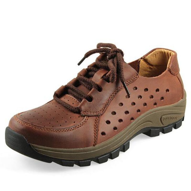 2018 2018 2018 Sale Uomo Outdoors Wear Casual Genuine Pelle Lace-Up Shoes,Non-Slip Massag 44aa3f