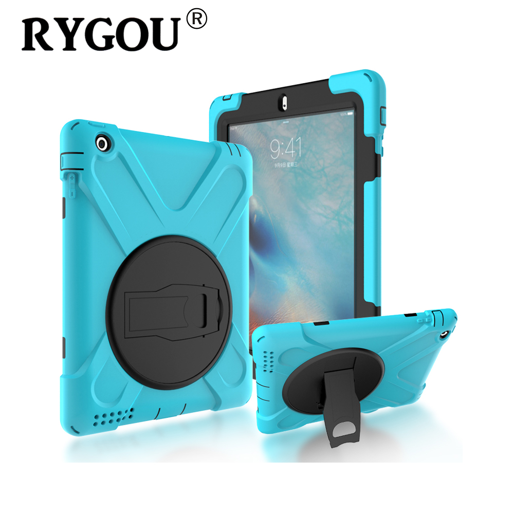 RYGOU For Apple ipad 4 Case Spider Military Heavy Duty Waterproof Dust/Shock Proof Tablet E-book Case for iPad 2 3 4 Safe Cover silicone shock proof fall proof dust proof case w stand for ipad air 2 9 7 camouflage black