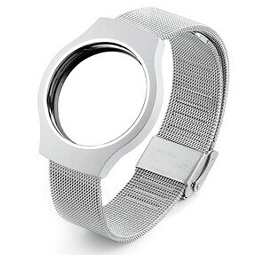 Steel Wristband Bracelet Strap Sleep Fitness Monitor For Misfit Shine Silver