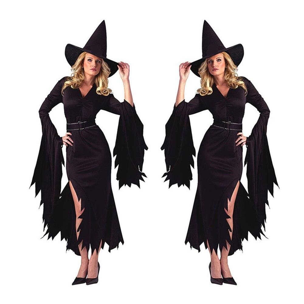 Women Vampire Costume Girl Witch Dress Adult Gothic Dark Queen Cosplay Fancy Dress for Carnival Halloween Costume