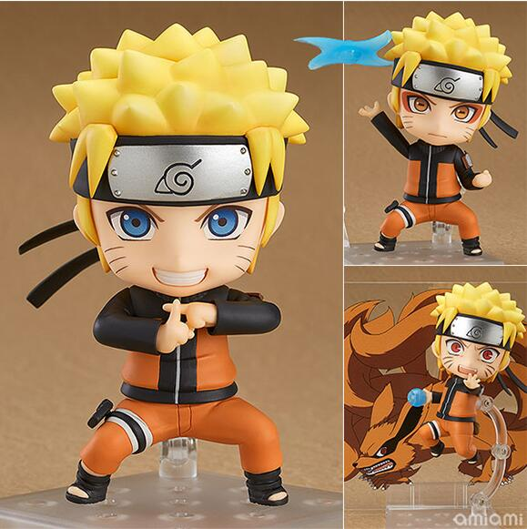 Naruto Action Figures Nendoroid PVC 100mm Anime Uzumaki Naruto Toys Rasengan Collectible Model Toy nendoroid cynthia and garchomp action figures toys anime collectible model 507
