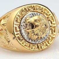 Бесплатная доставка> Для мужчин 19 мм кольцо Прохладный Лев Eagle Star Размеры 7-11 кольца