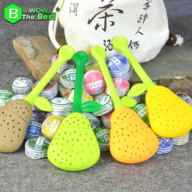 Pear Tea Strainer + 10 kinds of Flavor 50pcs Puer Tea Chinese tea, Pu er Chinese food with Filter