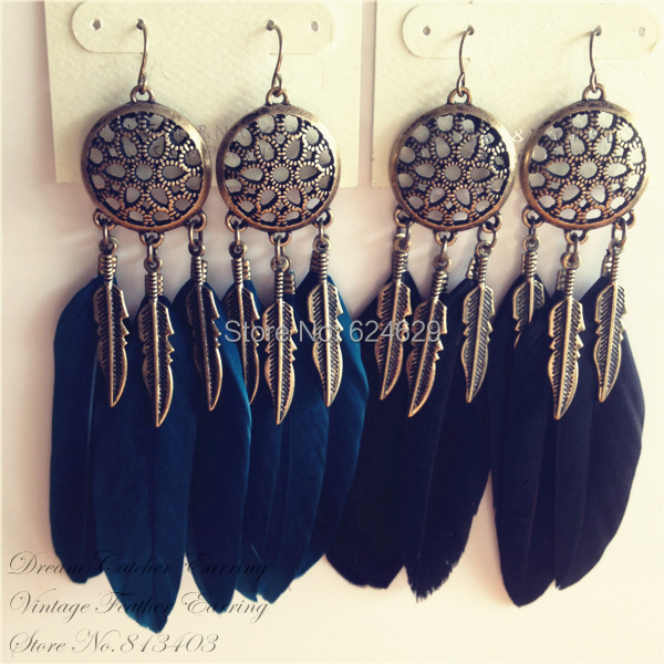 Dream Catcher Earring Feather Dreamcatchers Indian Stylein Drop Awesome Dream Catcher Earrings Online
