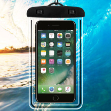 weloan PVC Luminous Waterproof for iphone x Case Cell Mobile Phone Bag Touchscreen WaterProof Underwater Transparen Pouch