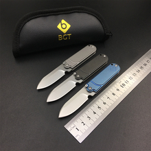 Serge S35VN Folding Knife Tactical Camping Hunting Key Chain Pocket Bean Knives Steel / Titanium Handle Bearing EDC Multi Tools