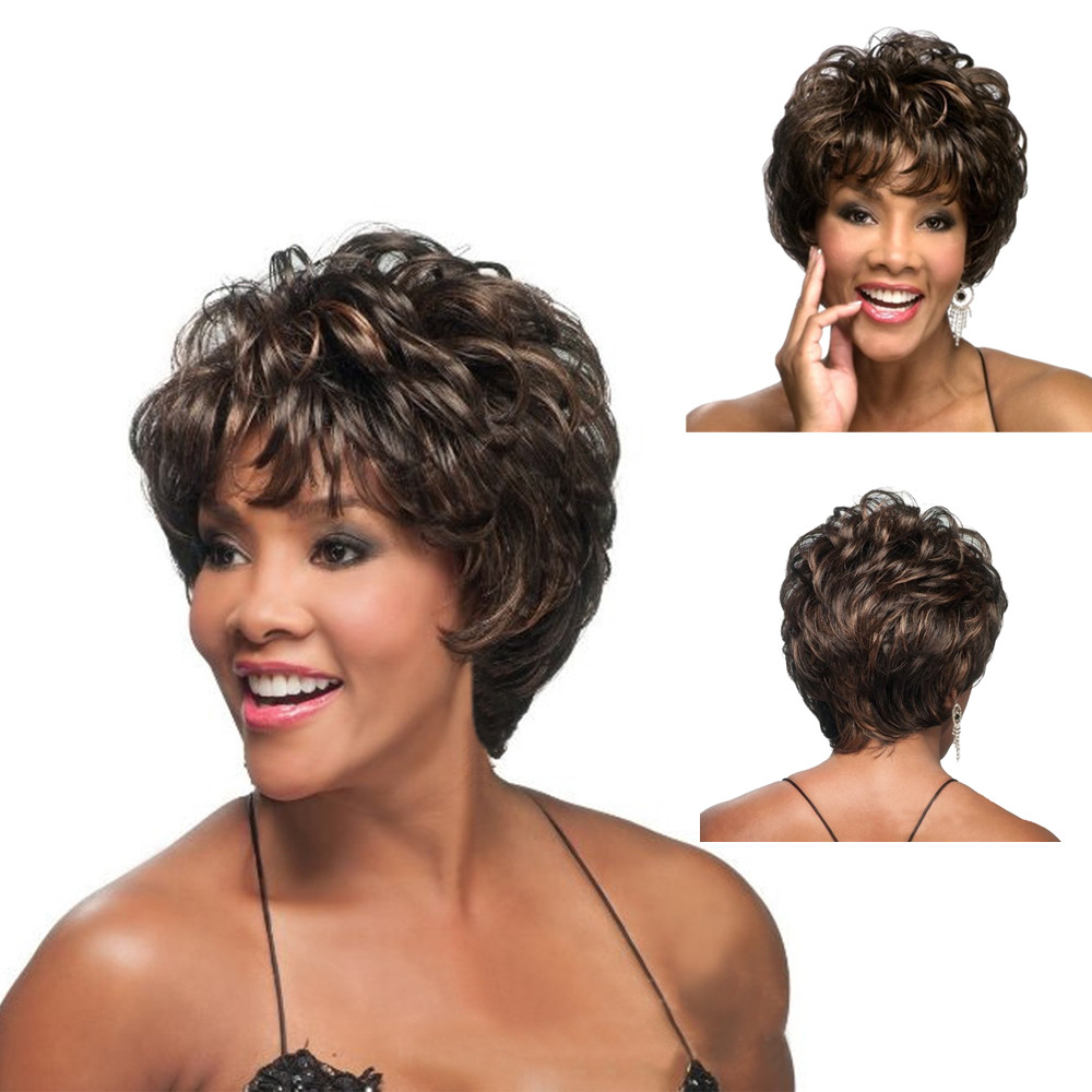 Styling Tools Fashion Women Gold Short Curly Wigs High Temperature Wire Synthetic Fiber Hair Styling Blonde Wig 2u81210 Beauty & Health