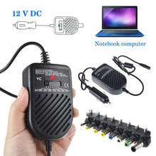 Universal 80W DC USB Port LED Auto Car Charger Adjustable Power Supply Adapter Set 8 Detachable Plugs For Laptop Notebook(China)