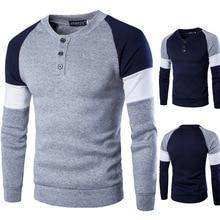 Zogaa весенний осенний мужской хлопковый свитер с длинным рукавом, мужской повседневный однотонный приталенный свитер в китайском стиле, одежда