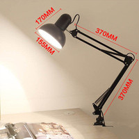 360 Degrees Flexible Desk Lamp Holder Clip With On Off Switch For Children Reading EU US