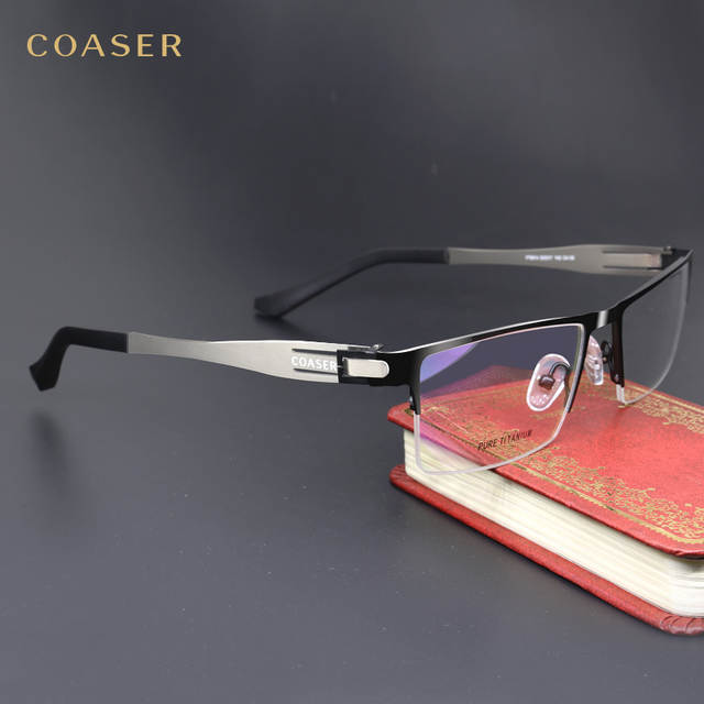 718760845cf placeholder Germany IC Quality Stainless Steel metal frame Glasses Men  Square Myopia prescription eyewear optical eyeglasses frame