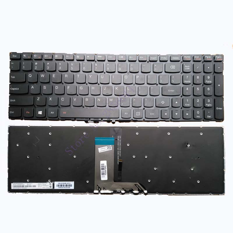 New US laptop keyboard for Lenovo IdeaPad 700-15 700-15ISK US Black Keyboard Backlight new us laptop keyboard for lenovo ideapad 700 15isk 700 15 us black laptop keyboard backlight