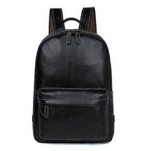 купить Large Capacity Mens Leather Backpack For Travel Casual Men Daypacks Leather Travel Backpack 7273A-1 дешево