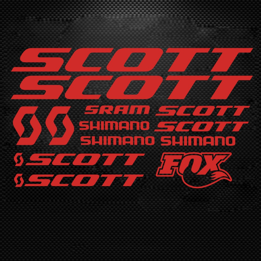 Scott Vinyl Decals Stickers Sheet Bike Frame Cycle Cycling Bicycle Mtb Road