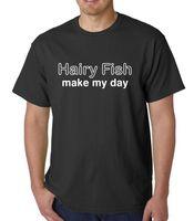 Волосатые рыбы Make My Day лозунг забавные футболка с капюшоном разных цветов летние футболка бренд Фитнес Бодибилдинг