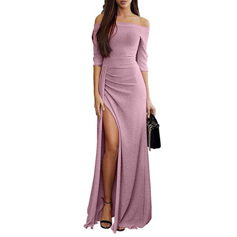Dress <font><b>Vestidos</b></font> <font><b>Verano</b></font> <font><b>2018</b></font> Women rregular Split Slash <font><b>Sexy</b></font> Elegant Package Hip Midi Dress Winter Women Dress Robe Club New image