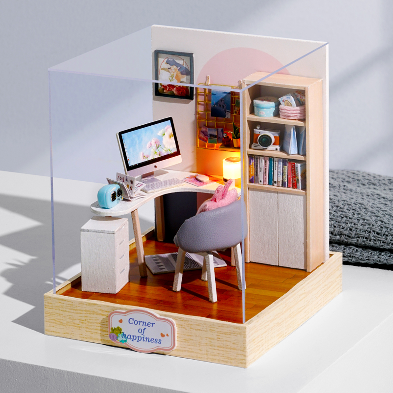 DIY Casa De Bonecas Miniaturas Casa de Bonecas Móveis Em Miniatura De Madeira Caixa de Brinquedos para Crianças Presentes de Aniversário Casa Semente Mundo QT30 Theatr