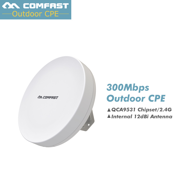 500mW CPE Outdoor Wireless WIFI Router Long Range 5KM WIFI Repeater 300Mbps AP Router CPE AP Bridge Client Router Suppor OpenWRT