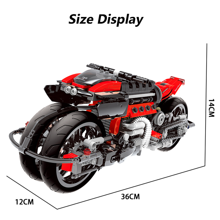 XINGBAO XB-03021 Off-road Motorcycle Building Block 35