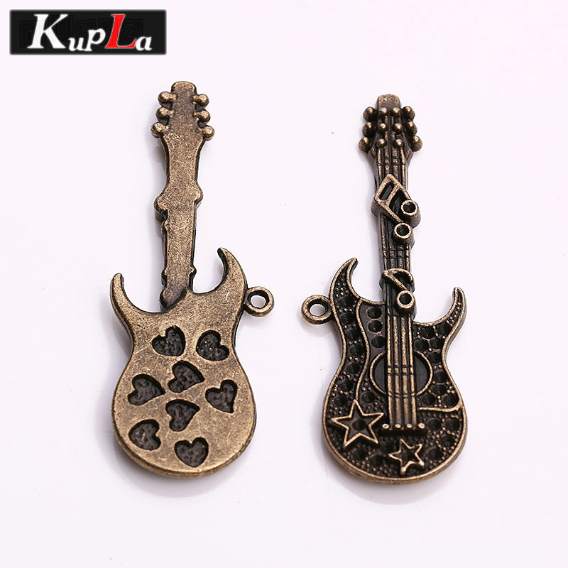 buy vintage metal music guitar charms diy jewelry accessories hearts guitar. Black Bedroom Furniture Sets. Home Design Ideas