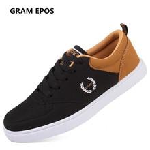 GRAM EPOS Unisex Spring Summer Autumn Big size 46 47  Flats Male Casual lace up Shoes Men Basket Femme Sapato Masculino Shoes