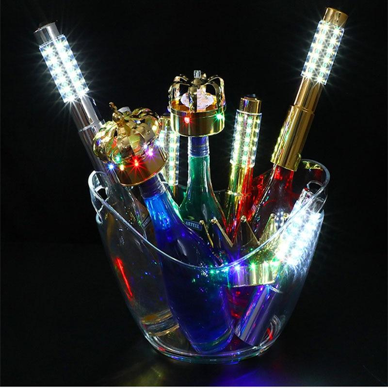 LED Recharge Sparkler Strobe Baton Flashing Fireworks Sticks Wine Champagne Bottle cap Stoppers Event Reception for Bar Party