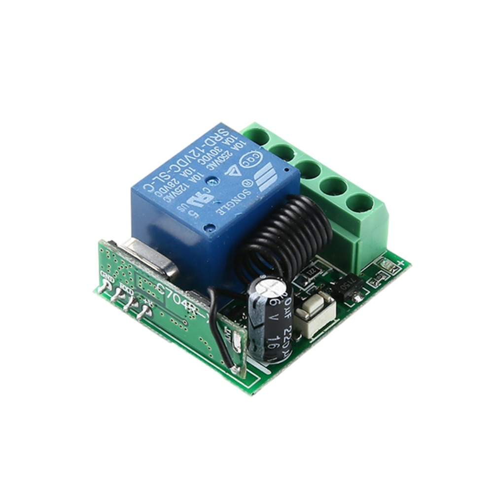 DC12V 1 Channel Relay Module Wireless Remote Control Switch Smart Home Controller Receiver For EV1527 Code Universal 433MHz RF
