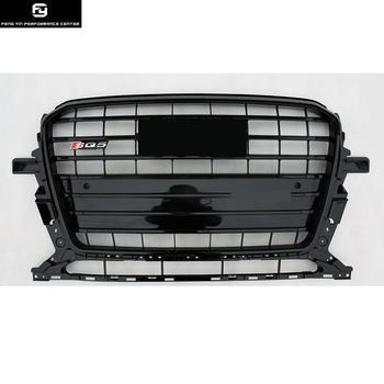 All black Q5 SQ5 Racing Grills ABS Grey Painted Grill Front Bumper grille For Audi Q5 SQ5 13-15 Гриль