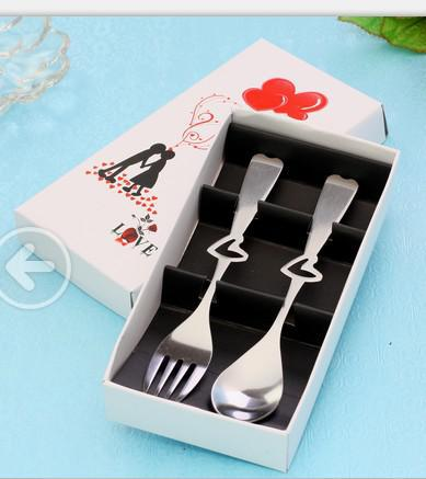 Stainless Heart Spoon And Fork Wedding Thank You Gifts For Guests Favors 10set In Party From Home Garden On Aliexpress