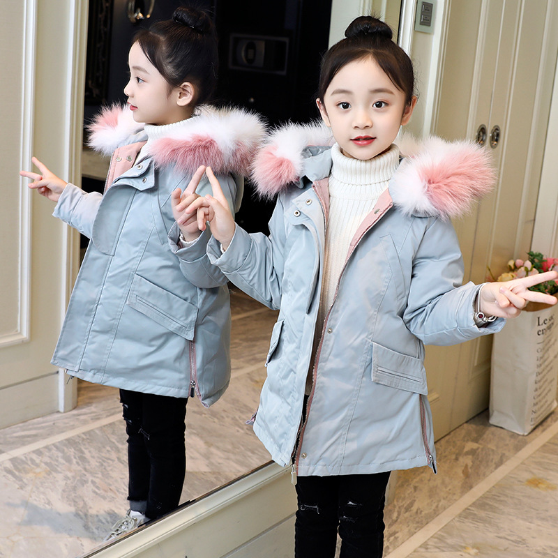 2019 Girls Winter Coat High Quality Kids Outerwear Parka Down Jacket Hooded Fur Collar Outdoor Warm Long Coats Children Clothes2019 Girls Winter Coat High Quality Kids Outerwear Parka Down Jacket Hooded Fur Collar Outdoor Warm Long Coats Children Clothes