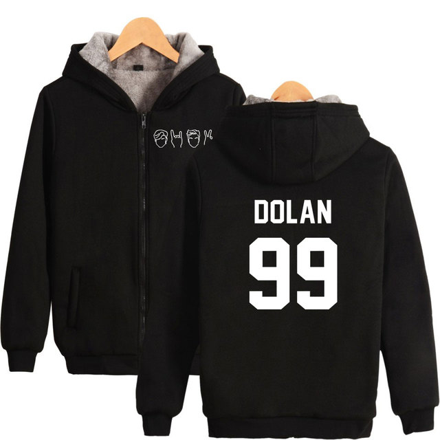 fa67d0e4a Youtuber Dolan Twins Hoodies Autumn Winter Zipper Long Sleeve Hoodie and  Sweatshirts Warm Tracksuit Sweatshirts Dolan Twin