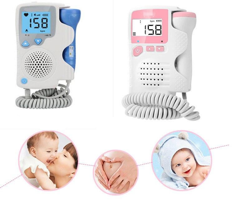 Doppler foetal, 2 MHZ Porbe Bébé Prénatal Battement de Coeur Moniteur 4.5 Affichage Doppler Foetal Moniteur