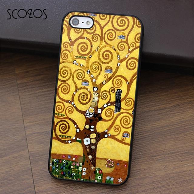 SCOZOS GUSTAV KLIMT TREE OF LIFE phone case for iphone X 4 4s 5 5s ...