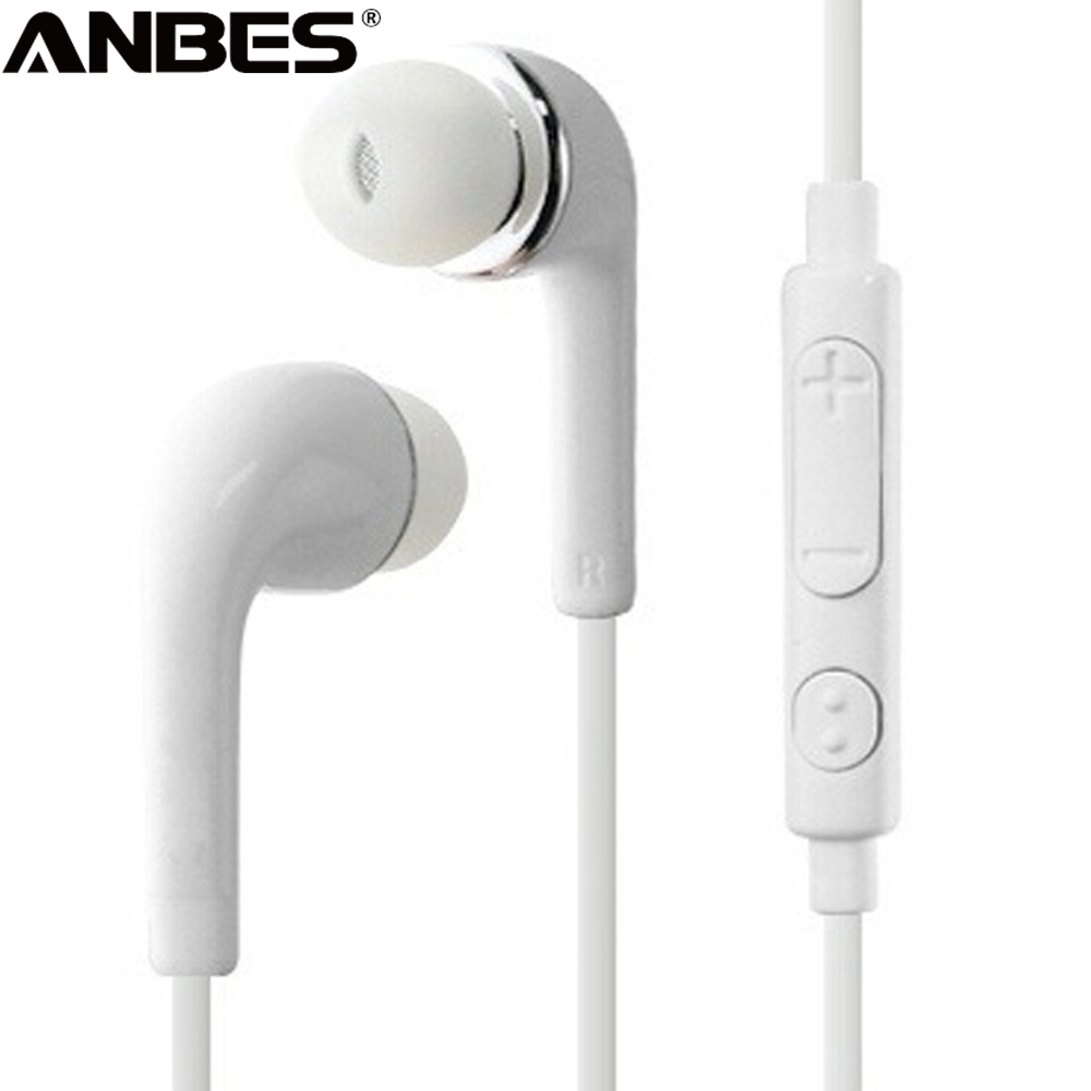 ANBES Headphones 3.5mm Jack Earphone Earbuds Stereo Wired Headset with Mic for Iphone Sony Xiaomi Samsung S7 S8 S9 auriculares(China)
