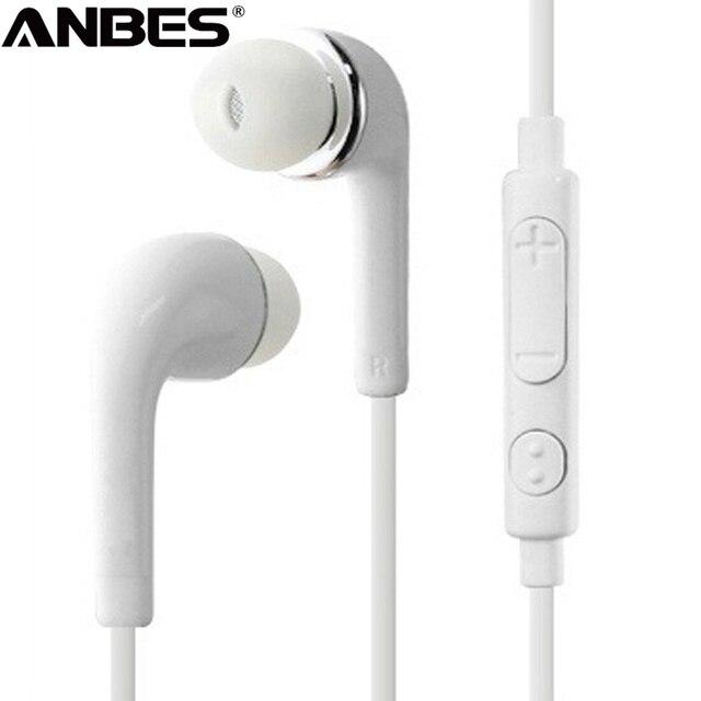 ANBES наушники 3,5 мм разъем для наушников Наушники стерео Проводная гарнитура с микрофоном для Iphone Sony Xiaomi Samsung S7 S8 S9 auricularesнаушники