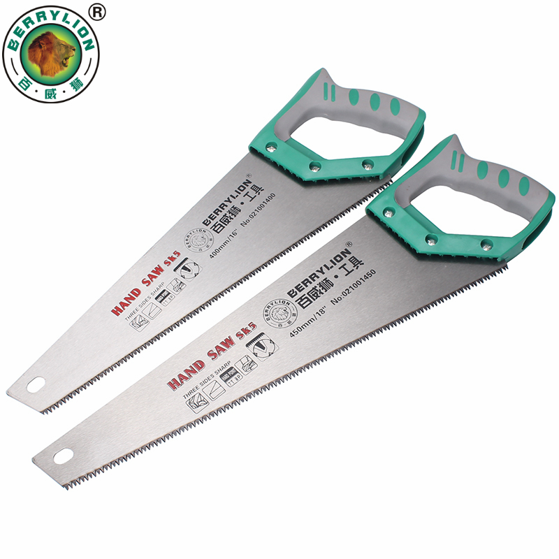 BERRYLION Hand Saw 12''/14''/16''/18'' Universal Handsaw DIY Hacksaw SK5 For Wood Plastic PVC Woodworking Hand Tools authentic original tajima saw pul265 kch 3 times fast panel saw 265mm woodworking handsaw handsaw