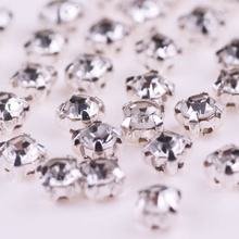 Shiny Glass Strass Crystal Rhinestones For Dresses Sew on Rhinestone Stones for Clothes Wedding Dress Sewing Accessories DIY H all sizes clear crystal white rectangle shape sew on rhinestones glass strass sewing crystal stones for dress making accessories