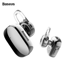 Baseus Mini Bluetooth Earphone Hands-free Wireless Bluetooth Headset Headphone With Mic Ear Hook Earbuds Earpieces For iPhone XS(China)