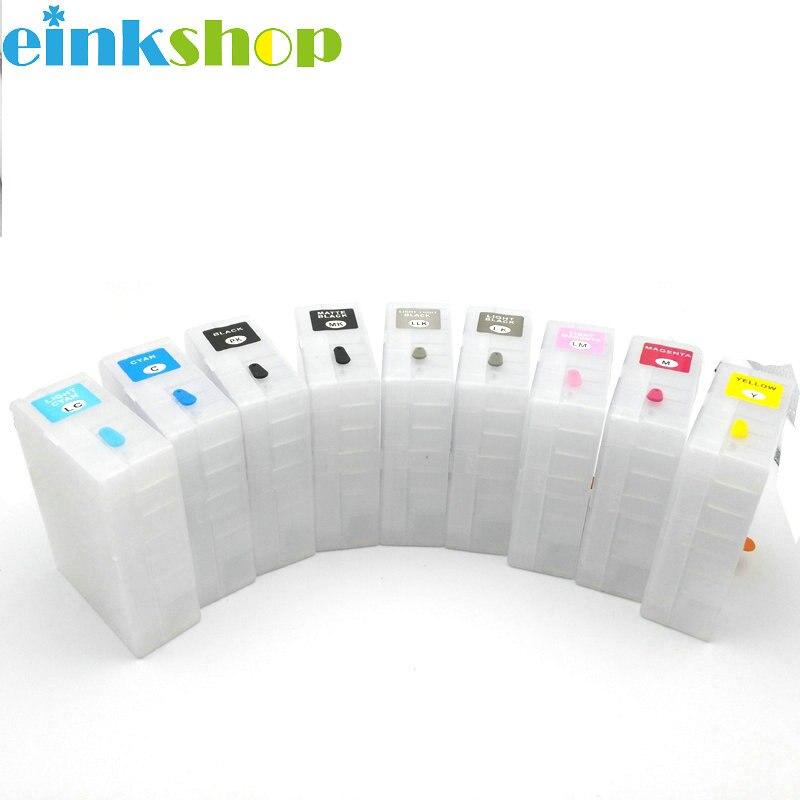 Einkshop 9pcs 9 kleur Lege Voor epson T5801 Navulbare Inkt Cartridge voor epson Stylus pro 3880 Printer T5801  t5809-in Inktpatronen van Computer & Kantoor op AliExpress - 11.11_Dubbel 11Vrijgezellendag 1