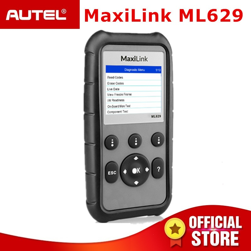 Autel ML629 OBD2 Scanner Automotive Motor Übertragung ABS SRS Diagnosen Tool Voll OBD 2 Funktion und DTC Lookup PK ML619 AL619
